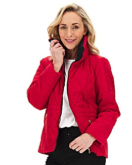Julipa Padded Jacket with Faux Fur Trim