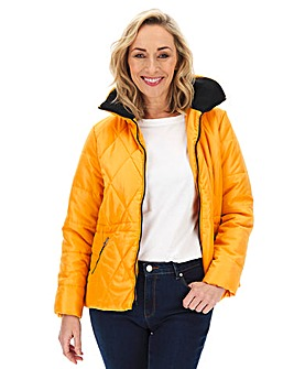 Julipa Padded Jacket with Faux Fur Frim