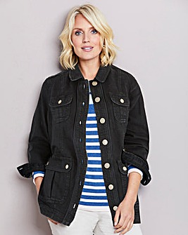 Julipa Black Denim Jacket