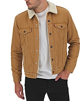 Levi's Canvas Sherpa Trucker