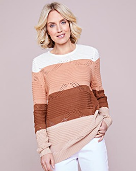 Julipa Pointelle Striped Jumper