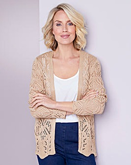 Julipa Stone Pointelle Short Cardigan