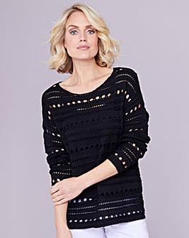 Julipa Black Crochet Jumper