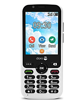 Doro 7010 White SIM Free Mobile Phone