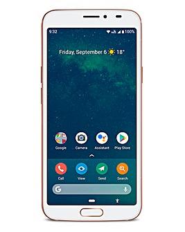 Doro 8080 White/Copper Smart Phone