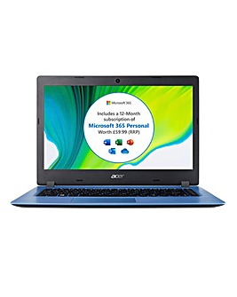 Acer Aspire 1 14in HD Notebook - Blue