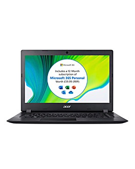 Acer Aspire 1 14in Full HD Notebook Black - Intel Pentium, 4GB RAM, 64GB