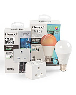 Intempo 1 Bayonet Bulb & 1 Smart Plug