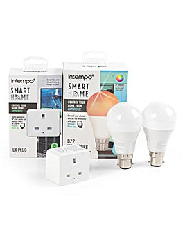 Intempo 2 Bayonet Bulbs & 1 Smart Plug