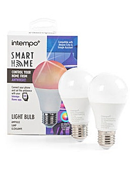 Intempo 2 Pack E27 Bulbs