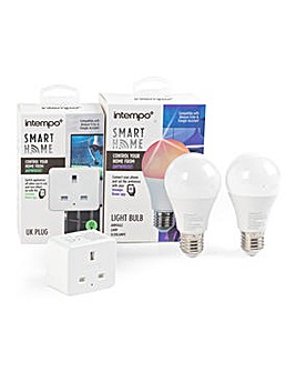 Intempo 2 E27 Bulbs & 1 Smart Plug Combo