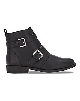 Double Buckle Monk Boot Extra Wide EEE Fit