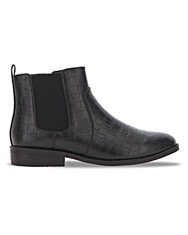 Faux Croc Chelsea Boot Extra Wide EEE Fit
