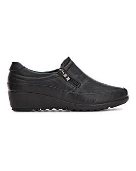 Cushion Walk Side Zip Shoe Wide E Fit