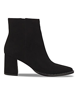 Joanna Hope Suede Boots With Diamante Detail Wide E Fit