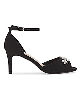 Joanna Hope Trim Detail Sandals Extra Wide EEE Fit