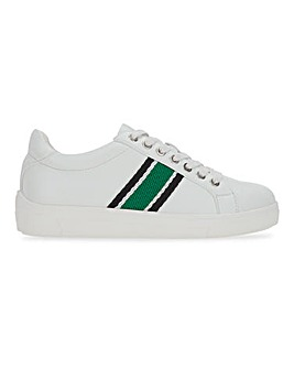 Stripe Detail Lace Up Leisure Shoes Wide E Fit
