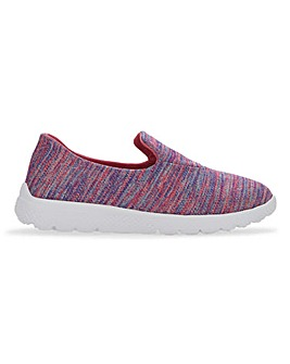 Cushion Walk Lightweight Leisure Shoes Wide E Fit