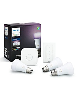 Philips Hue White & Colour Ambience B22 Starter Pack