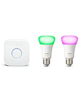 Philips Hue White & Colour Ambience Bluetooth E27 Starter Kit