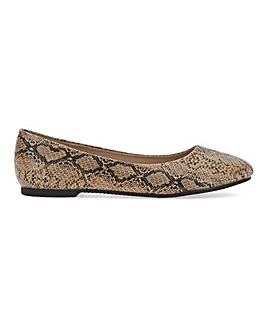 Snake Print Ballerina Shoes Ultra Wide EEEEE Fit