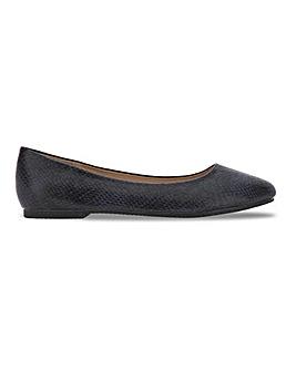 Snake Print Ballerina Shoes Ultra Wide EEEEE Fit