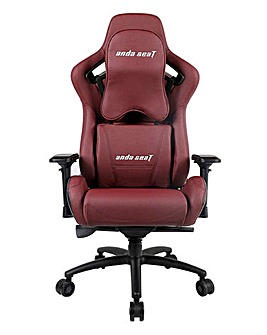 andaseaT Kaiser Series Gaming Chair Black & Maroon