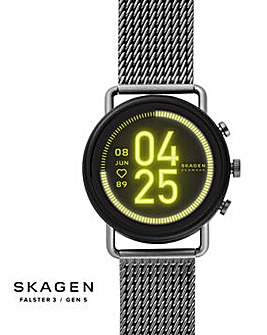 Skagen Smartwatch HR - Falster 3 Gunmetal Gauge Mesh