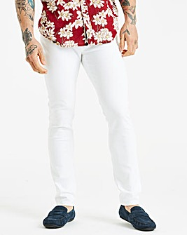 Skinny White Jeans 29 in