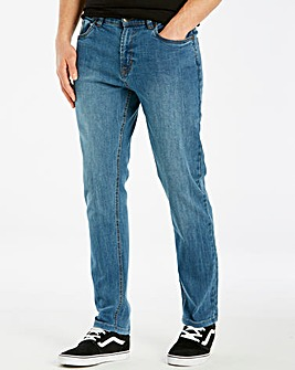 Union Blues Stonewash Tapered Jeans 29in