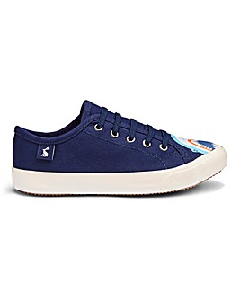 Joules Navy Shark Lace Up Trainer