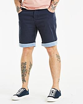Jacamo Navy Attica Chino Shorts