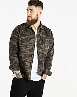 Jacamo Camo Overshirt Regular