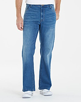 Bootcut Fit Jeans 35 In