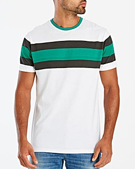Jacamo Chest Stripe T-Shirt Regular