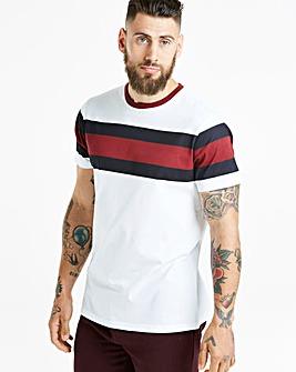 Jacamo Chest Stripe T-Shirt Regular