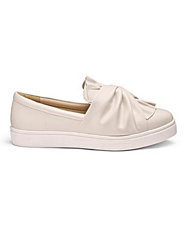 Beatrice Knot Detail Slip On Pumps Extra Wide EEE Fit