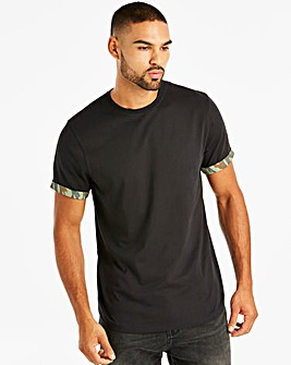 Jacamo Printed Cuff T-Shirt Long
