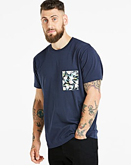 Jacamo Floral Pocket T-Shirt Long