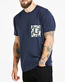 Jacamo Floral Pocket T-Shirt Long