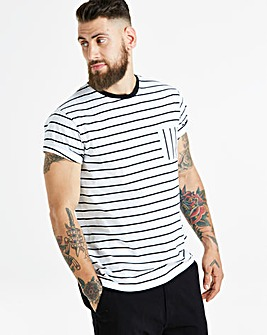 Jacamo Stripe Pocket T-Shirt Regular