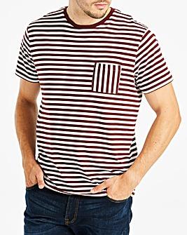 Jacamo Stripe Pocket T-Shirt Regular