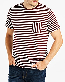 Stripe Pocket T-Shirt Long