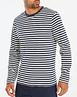 Jacamo Breton Stripe L/S T-Shirt Long