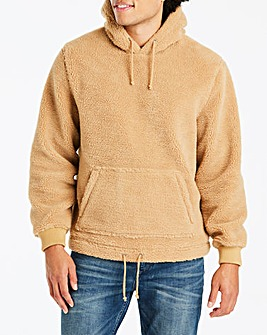 Tan Over Head Hooded Top Long