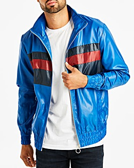 Jacamo Blue Full Zip Windbreaker Long