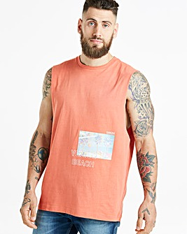 Jacamo Sleeveless Printed T-Shirt Long