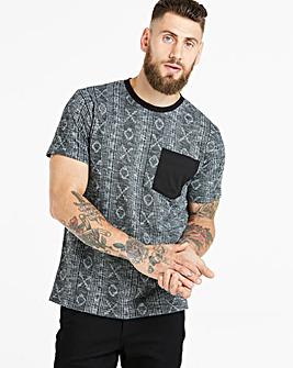 Jacamo Aztec Jacquard T-Shirt Regular