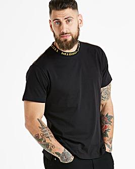 Jacamo Collar Detail T-Shirt Long