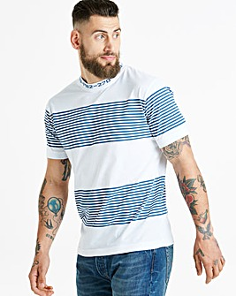 Jacamo Collar Stripe T-Shirt Regular